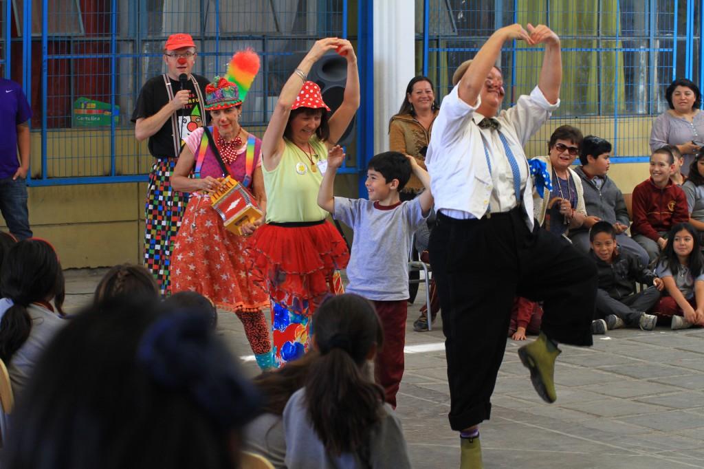 Optreden op school 12 november 2014 in Santiago